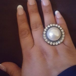 Premier Design Ring with false pearl accents